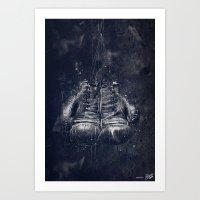 DARK GLOVES Art Print