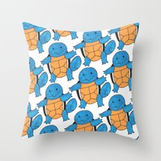 1 Squirtle, 2 Squirtle,… Throw Pillow