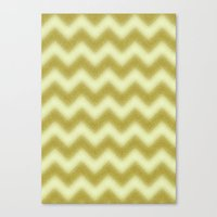 Chevron Gold Berry Canvas Print