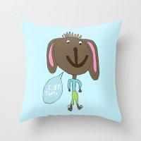 FLUFFY PUPPY Throw Pillow