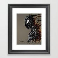 Web of Shadows Framed Art Print