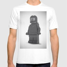 He's Seen A Million Miles SMALL White Mens Fitted Tee