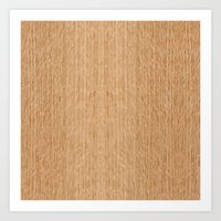 Red Oak Wood Art Print