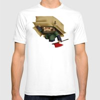 Solid Stobo Avatar Mens Fitted Tee White SMALL