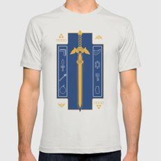 Zelda Poster Mens Fitted Tee Silver SMALL