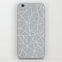 Abstract Lines 2 White O… iPhone & iPod Skin