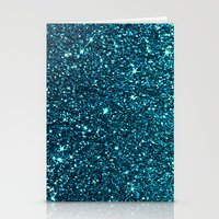 Blue Sparkle Stationery Cards