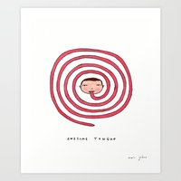 Awesome tongue Art Print
