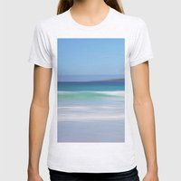 On The Beach Womens Fitted Tee Ash Grey SMALL