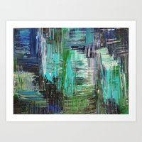 AQUATIC COMMOTION In Col… Art Print