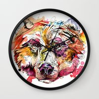 Vivid Grizzly Wall Clock