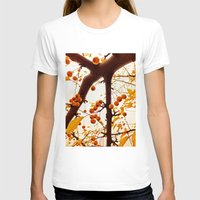 Golden Raindrops Womens Fitted Tee White SMALL