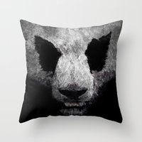 Pandor, God Of Pandas Throw Pillow