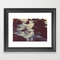 The Sun & The Sea III Framed Art Print