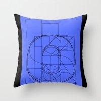 Die Neue Haas Grotesk (C-03) Throw Pillow