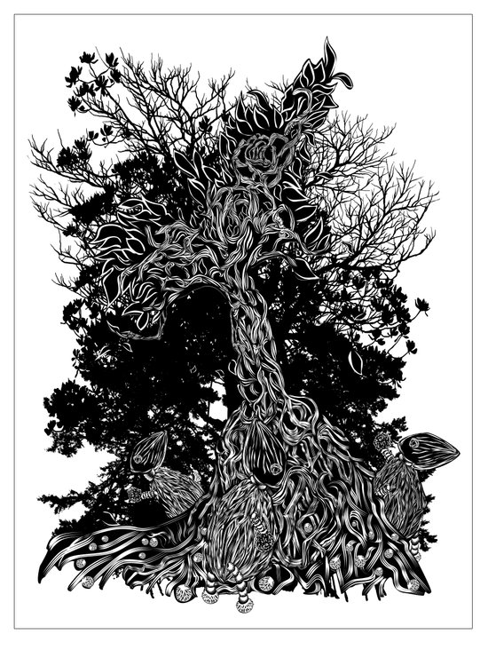 tree kids Art Print