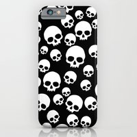 iPhone Cases featuring Random Skull Pattern by Ophelia's Art