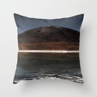Mountain Of The Lake Throw Pillow