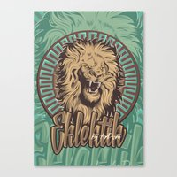 Lion Print Canvas Print