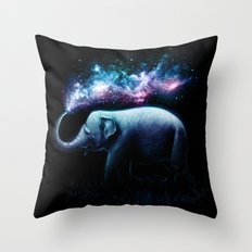 Elephant Splash Throw Pillow