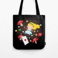 Alice Falling Down The R… Tote Bag