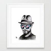 Reflective Rave Framed Art Print