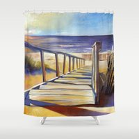 Oval Beach Shower Curtain