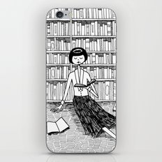 She just wanted to read books and do nothing else iPhone & iPod Skin