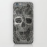 cow iPhone & iPod Cases featuring Lace Skull by Ali GULEC