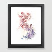 Flight Of Bats Framed Art Print