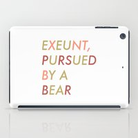 Shakespeare - The Winter's Tale - Exeunt Exit Pursued by a Bear iPad Case