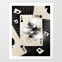Ace of Clubs Art Print