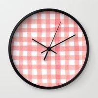 Gingham Watermelon Wall Clock