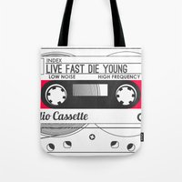 Audio Cassette SIDE A ▲LIVEFASTDIEYOUNG▲ RED Tote Bag