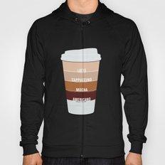 four shades of coffee + ingredients Hoody