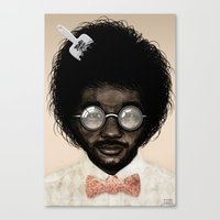 Portrait of Toro Y Moi Canvas Print