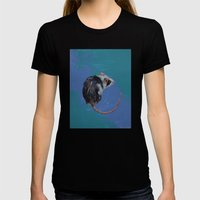 Mouse Womens Fitted Tee Black SMALL