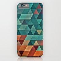 Teal/Orange Triangles iPhone 6 Slim Case