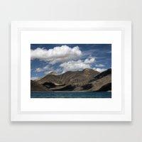 Journey to Pangong Lake Framed Art Print