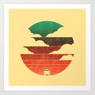 Art Print featuring Go West by Budi Kwan