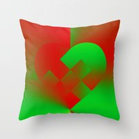 Danish Heart Holidays #6… Throw Pillow