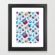 Sweet 90s Framed Art Print
