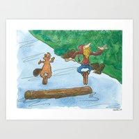 The Log Driver's Waltz Art Print