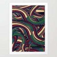 Swirl Madness Art Print