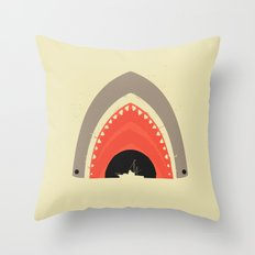 Great White Bite Throw Pillow