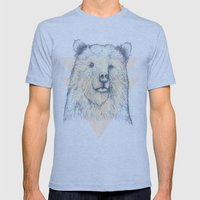 Grizzly Mens Fitted Tee Tri-Blue SMALL