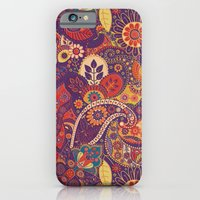 iPhone & iPod Case featuring Purple Floral Pattern by Robin Curtiss