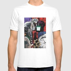 WINTER SMALL White Mens Fitted Tee