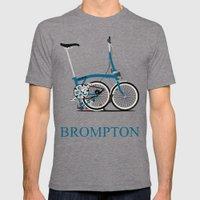 Brompton Bike Mens Fitted Tee Tri-Grey SMALL