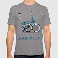 Brompton Bike Mens Fitted Tee Tri-Grey SMALL